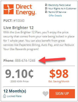 Electricity Offer Phone